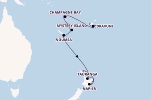 Geniet van een 20-daagse cruise naar Auckland, Nieuw-Zeeland