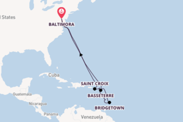 Viaggio da Baltimora verso Bridgetown