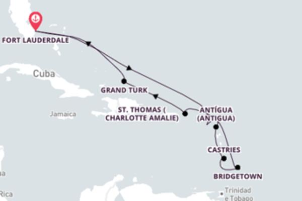 Jornada de 11 dias até Fort Lauderdale com o Sky Princess