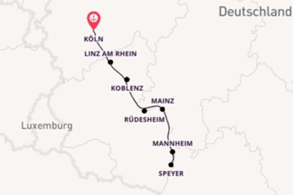 In 6 Tagen nach Köln über Mainz