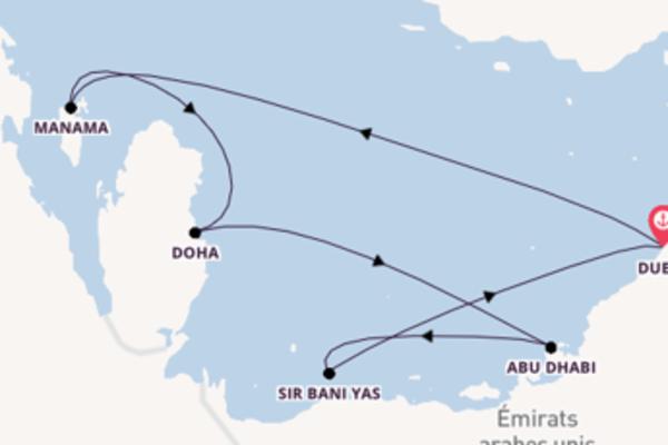8 jours de navigation à bord du bateau Oceana  vers Dubaï