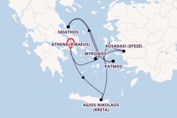 Cruise met Seabourn naar het indrukwekkende Athene (Piraeus)