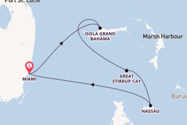 5 giorni verso Miami passando per Isola Grand Bahama