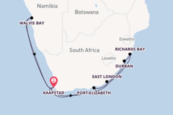 Ontdek Durban met Azamara Club Cruises