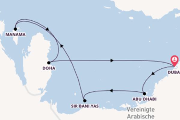 8 Tage Emirate und Orient Kreuzfahrt