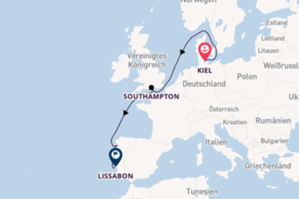Kreuzfahrt mit MSC Splendida von Kiel nach Lissabon