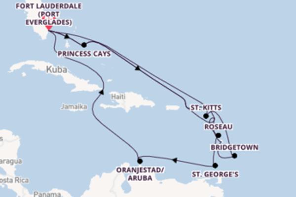 Entdecken Sie Antigua auf der Sky Princess