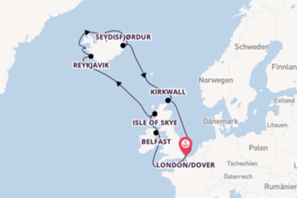 In 13 Tagen nach London/Dover