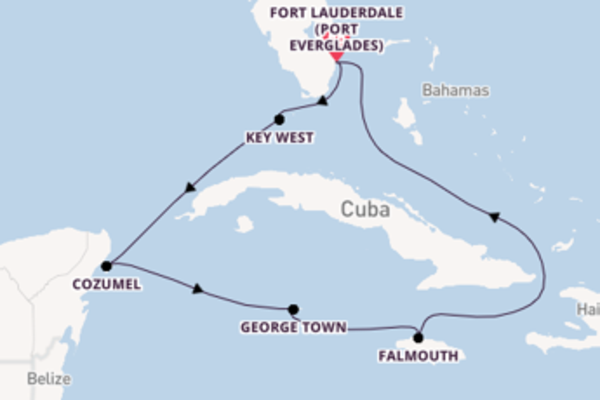 8 day cruise with the Celebrity Reflection to Fort Lauderdale (Port Everglades)
