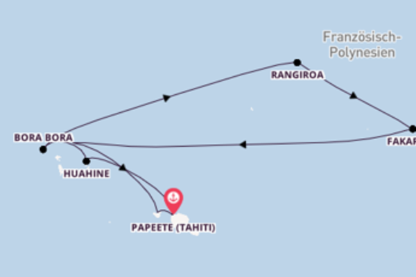 Begeisternde Reise ab Papeete (Tahiti)