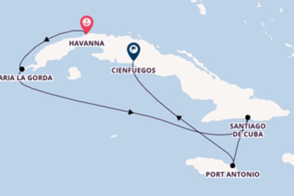 11-tägige Kreuzfahrt ab Havanna