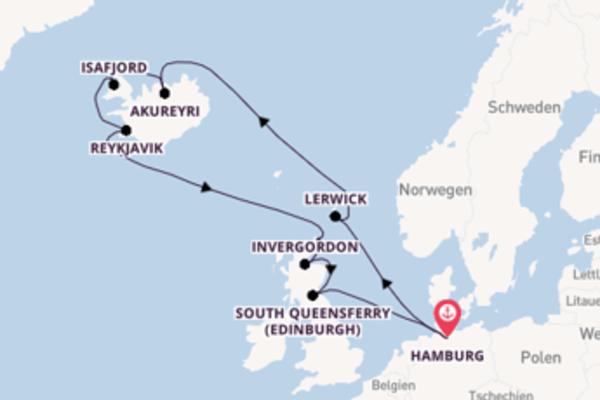 14 Tage Nordeuropa Kreuzfahrt