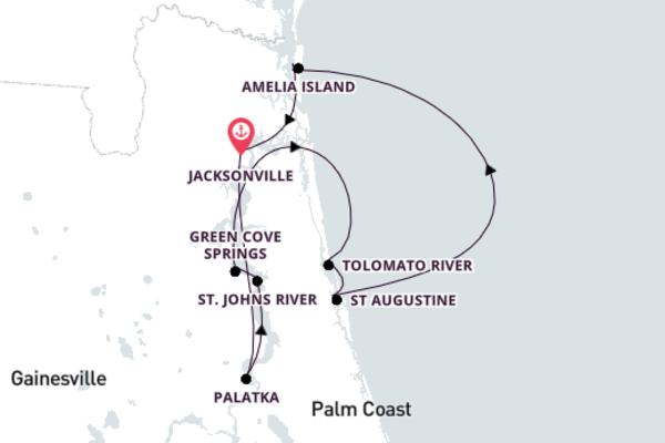 Great Rivers of Florida, Jacksonville return