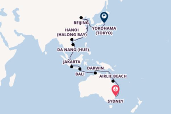 Journey from Sydney to Yokohama (Tokyo) via Da Nang (Hue)