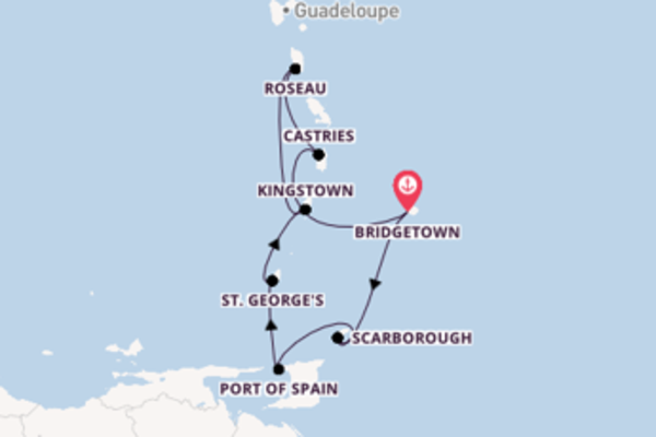 Expedition from Bridgetown with the Grandeur of the Seas