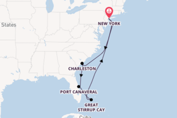 8 day trip on board the Norwegian Gem from New York