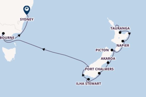 Incrível passeio de 16 dias até Sydney
