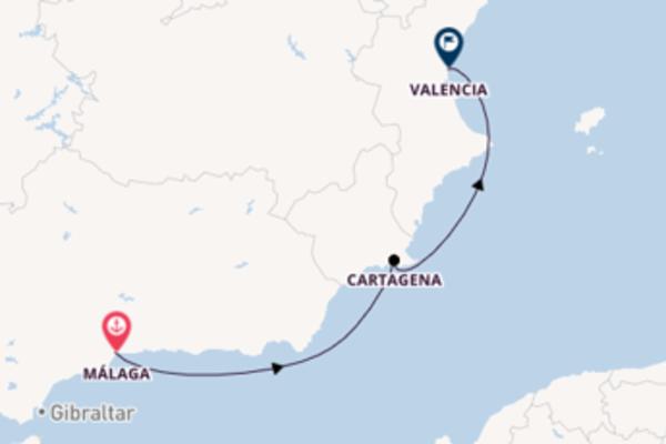 Cruising with the Sea Cloud II to Valencia from Málaga