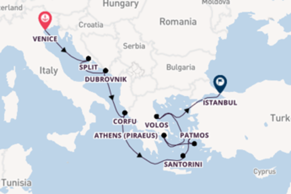Trip with Norwegian Cruise Line from Venice to Istanbul