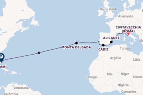 Desfrute 17 dias a bordo do Norwegian Pearl