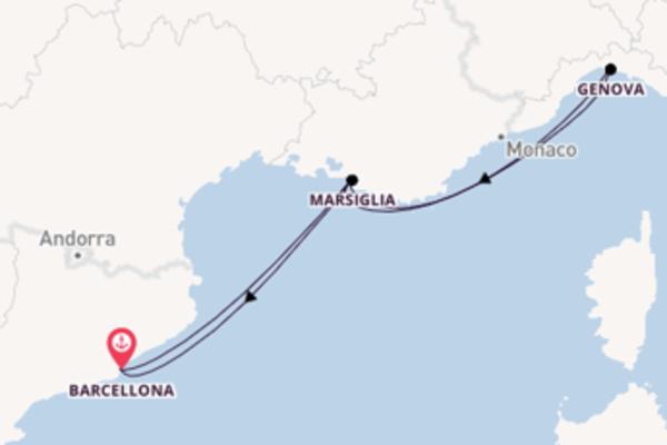 A bordo di MSC Seaside da Barcellona