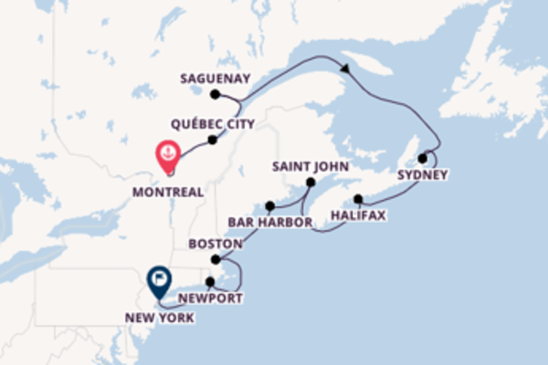 Sailing with the Insignia to New York from Montreal