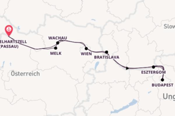 In 8 Tagen nach Engelhartszell (Passau) über Esztergom