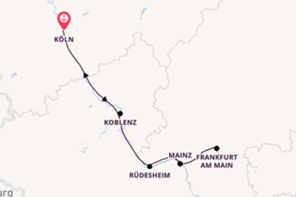Köln und Rüdesheim erleben