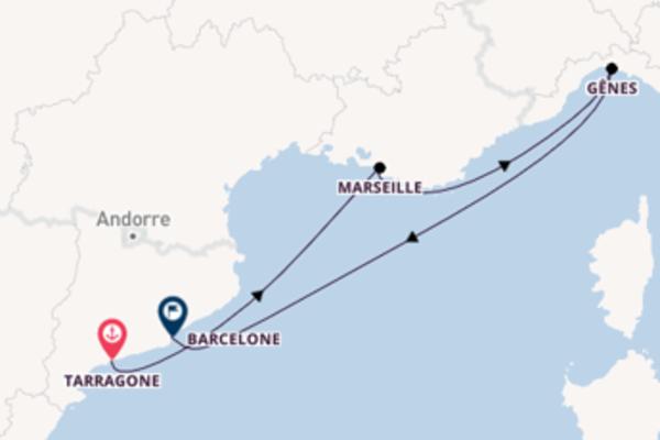 Croisière de 5 jours depuis Tarragone avec Costa Croisières