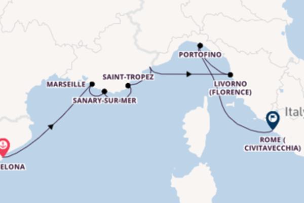 Sailing with the Azamara Quest to Rome (Civitavecchia) from Barcelona
