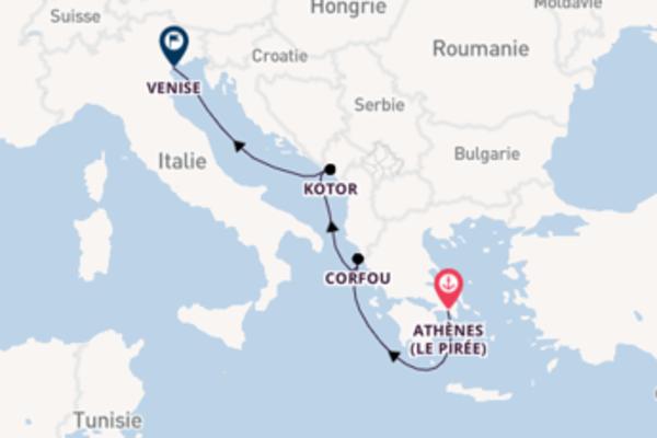 Corfou, depuis Athènes (Le Pirée) à bord du bateau MSC Musica