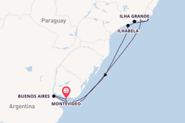 Trip from Montevideo with the MSC Orchestra
