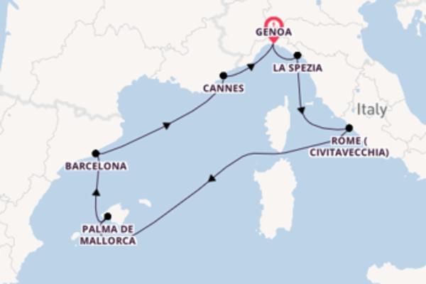 8 day journey on board the MSC Grandiosa from Genoa
