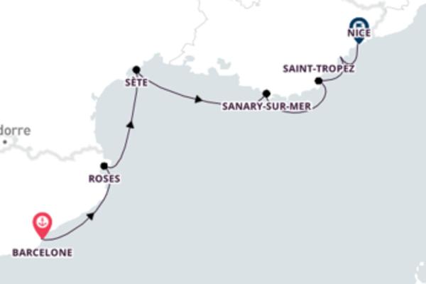 Splendide balade de 8 jours à bord du bateau SeaDream I
