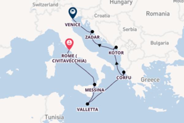 Sailing from Rome (Civitavecchia) via Messina