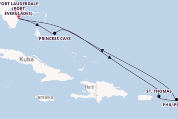 Atemberaubende Reise über Princess Cays in 8 Tagen