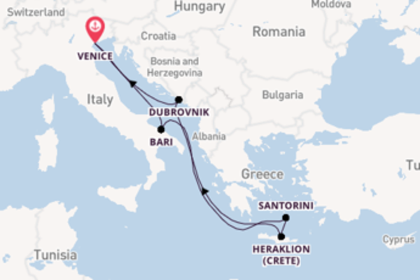 8 day trip on board the MSC Musica from Venice