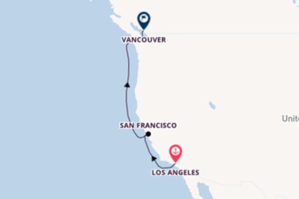 Spettacolareviaggio da Los Angeles verso San Francisco