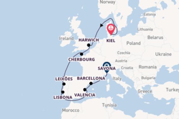 13 giorni di crociera da Kiel