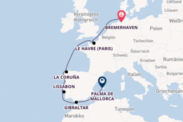 11-tägige Kreuzfahrt ab Bremerhaven