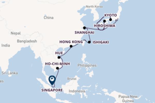Destinazione Singapore da Tokyo