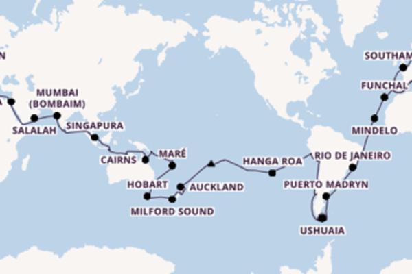 Navegando por 128 dias a bordo do MSC Poesia