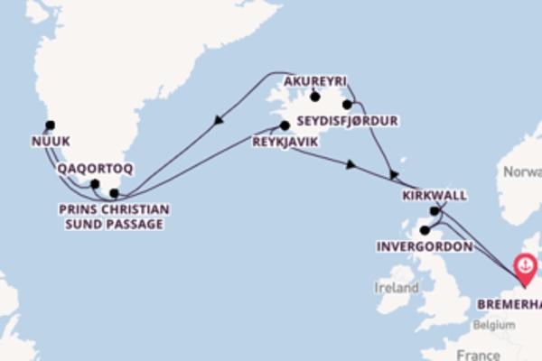Verken Seydisfjørdur met AIDA Cruises