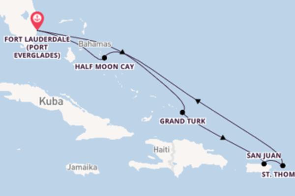 8-tägige Kreuzfahrt ab Fort Lauderdale