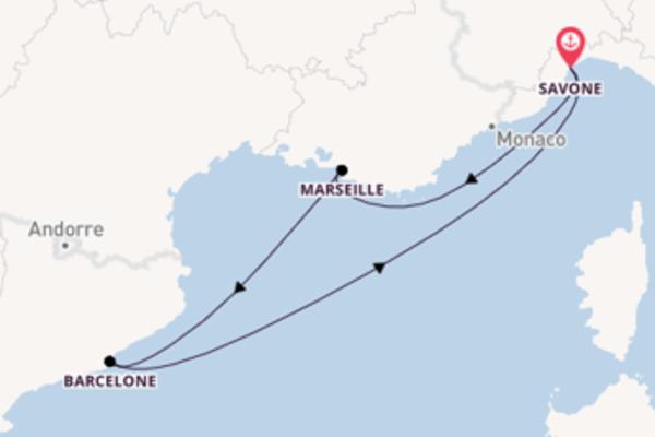 Douce balade de 5 jours avec Costa Croisières