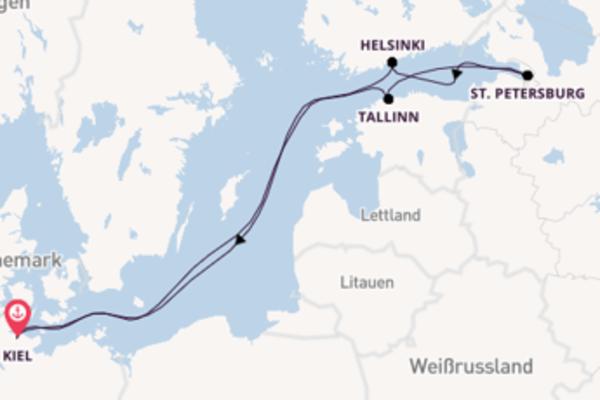 Von Kiel über St. Petersburg in 8 Tagen