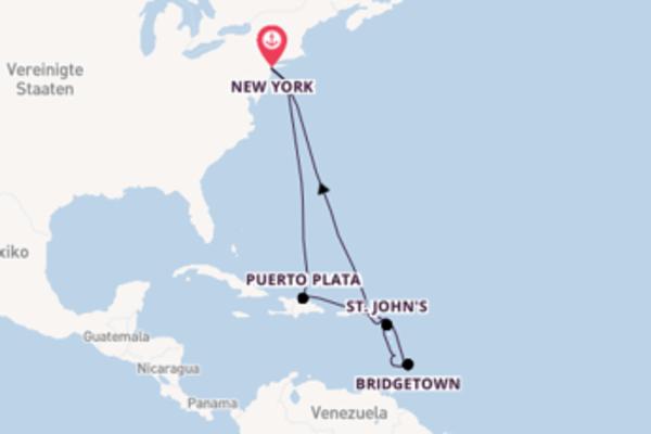 In 13 Tagen nach New York über Road Town/Tortola