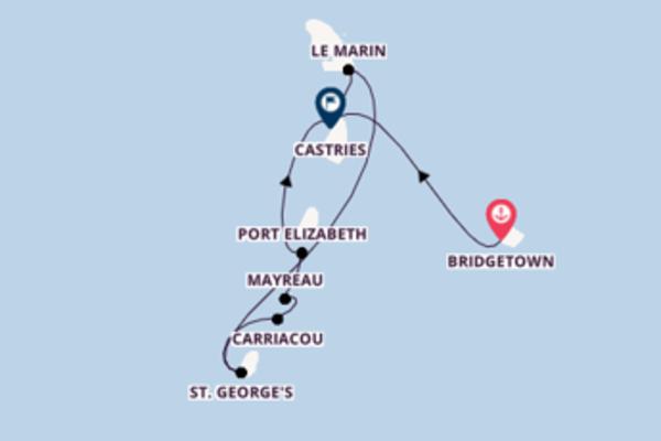 8daagse droomcruise vanuit Bridgetown