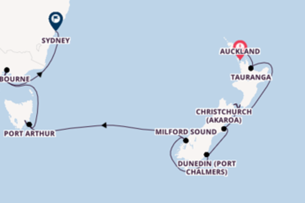 Cruising with the Silver Whisper to Sydney from Auckland