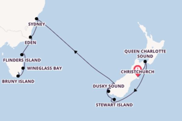 Christchurch bis Hobart